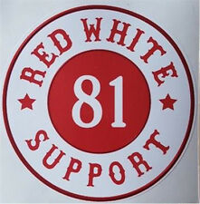 "Hells Angels Support ""Red White 81 Support"" Autocollant Original 81 Support"