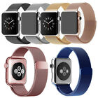 Milanese Magnetic Loop Stainless Watch Band Strap Leather Loop For Apple Watch