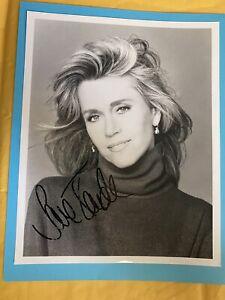 Jane Fonda Signed Photo 8 x 10 Autograph