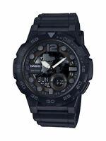 Casio Men's Quartz Analog-Digital Black Resin Band 47mm Watch AEQ100W-1BV