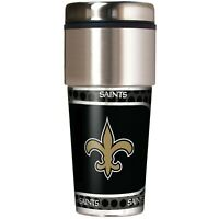 NFL New Orleans Saints 360 Wrap Travel Tumbler Football Fan Coffee Mug Cup