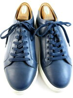 "NEW Allen Edmonds ""COURTSIDE"" Low-Top Leather Dress Sneakers 10 D  Navy  (595)"