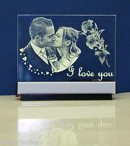 Acrylglas Fotogravur Geschenk mit oder ohne LED-Beleuchtung verschiedene Größen