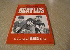 BEATLES SHIRT PHOTO HANG TAG W/POP OUT WALLET PHOTO U.K. ORIGINAL 1964 UNUSED