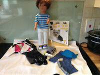 DESIGN A FRIEND  BOY DOLL JOSH, EXTRA NEW  OUTFITS with DOG BUNDLE-EXCELLENT