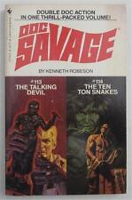 DOC SAVAGE THE TALKING DEVIL  #113 THE TEN TON SNAKES  #114 KENNETH ROBESON 1982