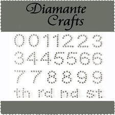 Diamante Numbers Rhinestone Vajazzle Self Adhesive Body Art  Gems 1234