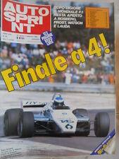 Autosprint 35 1982 Gilles Villeneuve Jacky Stewart