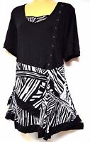 plus sz XS / 14 TS TAKING SHAPE Deluxe Top funky soft stretch draping top NWT!