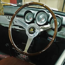 "Wolfsburg Steering Wheel 16"" Wood Rim VW Beetle Ghia Type 3 Notch Square AAC159"