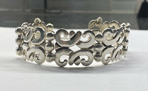 Mexican 925 Sterling Silver Statement Bracelet