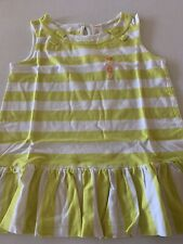 Gymboree Girls Green Shirt 7 Striped Sleeveless NWT