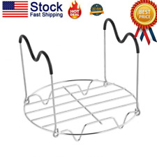 New listing Kitchen Steamer Rack Steaming Trivet Stand for Rice Cooker w/ Silicone Handles