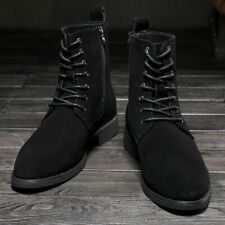 Men Casual Suede Chelsea Ankle Boots Lace Up British Style Desert Military Shoes