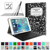 For iPad Mini 5th Gen 2019 Slim Leather Case Cover Stand with Bluetooth Keyboard