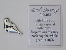 bb Hope LITTLE BLESSINGS BIRD CHARM TOKEN special wish inspiration figurine ganz