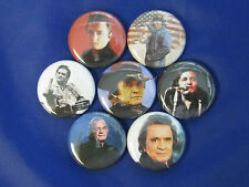Johnny Cash 7 pins buttons badges new  Pinbacks Buttons