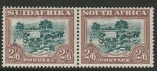 South Africa 1930-44 George V 2/6d Green and brown SG 49 Mnh.
