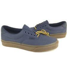 $182 Vans Mens Blue Gum Era Low Top Canvas Skateboarding Sneakers Shoes 7