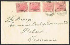 More details for 1904 western australia cover to hobart tasmania 4x 1d red b/s launceston vgu