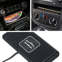Qi Wireless Car Fast Charger Charging Pad Dock Silicone Non-slip Mat 5W/7.5W/10W