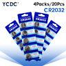 20Pcs 3V Button Battery Coin Cell Li-ion 5004LC ECR2032 CR2032 DL2032 KCR2032 8