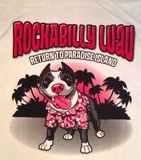 Nwot Friends To The Forlorn Pitbull Rescue Rockabilly Luau Shirt Xl