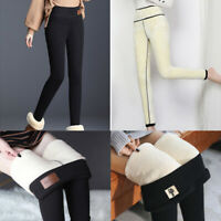 Women Pencil Leggings Pants Thermal Thick Warm Fleece Lined Fur Winter Tight New