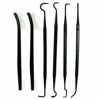 6 PCS Set Gun Rifle Pistol Cleaning Picks + Nylon Brushes - Non-Scratching