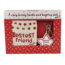 Boofle Bestest Friend Socks & Keyring Set In A Gift Box Lovely Present