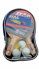 Table Tennis Kit with Two Racquets, Three Balls (color may vary) U S