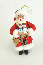 Vintage Friends Forever Santa Christmas Ornament Holiday Tree Decoration 6x3.5