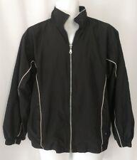 Wilson Men's Black Zip Up Tennis Warm Up Windbreaker Jacket Medium