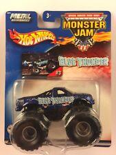 Hot Wheels Monster Jam Monster Truck Blue Thunder #3 Die-cast Metal 1/64 2002