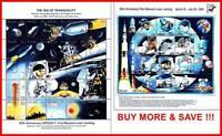 PALAU 1989/1994 SPACE/APOLLO 11 on MOON x2 M/S MNH (FV USA $12.05) (folded)  **