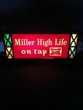 RARE COLORFUL Miller High Life On Tap Light Up Beer Sign