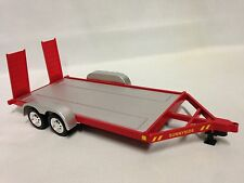 Die-Cast Car Trailer, 1:24 Scale with Trailer hitch kit , Sunnyside Toys, RED