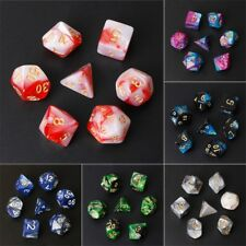7Pcs/Set Acrylic Polyhedral Dice For TRPG Board Game D4-D20