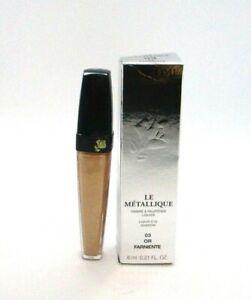 Lancome Le Metallique Liquid Eye Shadow ~ 03 Or Farniente ~ 6 ml / 0.21 oz  BNIB