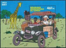 [H17957] Congo 2001 TINTIN - Hergé Good RARE sheet very fine MNH