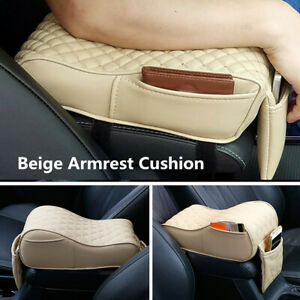 Beige Leather Car Seat Armrest Cushion Center Console Box Memory Cotton Foam Pad