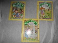 VINTAGE LOT OF 3 CABBAGE PATCH KIDS BOOKS HARD COVER PARKER BROTHERS 1984