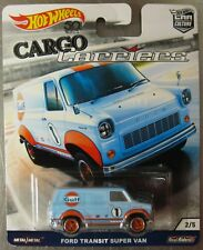 Hot Wheels Cargo Carriers FORD TRANSIT SUPER VAN Gulf Oil