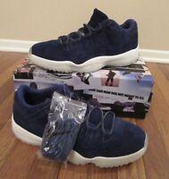 052ca6accef Nike Air Jordan 11 Retro Low Size 12 Binary Blue Sail AV2187 441 Jeter  RE2PECT