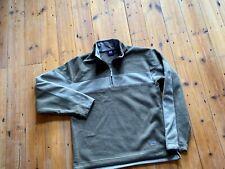 Helly Hansen Mens Size M Fleece Grey Half Zip Jacket
