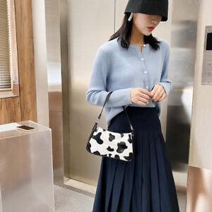 Damen Handtasche Umhängetaschen Kuh Muster Ledertasche PU Schultertaschen Tasche