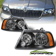 Black Headlights Lamps For 2003 2004 2005 2006 Lincoln Navigator Factory Style