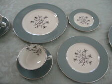 Service for 4 5-Piece Place Settings Lenox Kingsley China X445 Teal PLATINUM