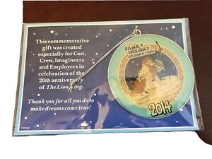 NEW Cast Member Exclusive DISNEY 20th Lion King Ornament 2014 Family Holiday
