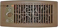 Suncourt Register Booster Fan Flush Fit Brown Air Circulation Heater A/C Vent